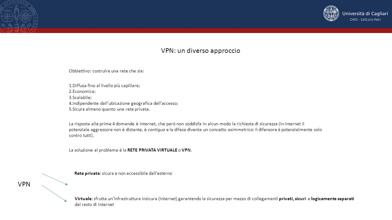 VPN: un diverso approccio