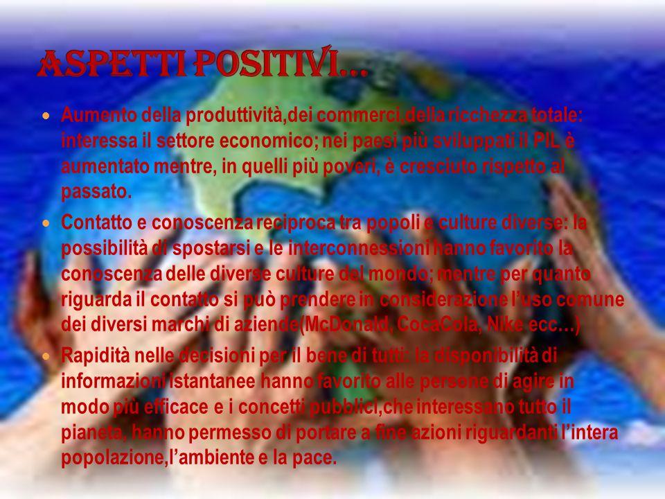 Aspetti positivi…
