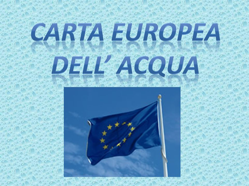 CARTA EUROPEA DELL' ACQUA