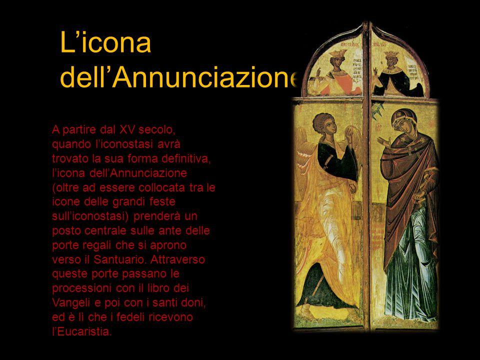 L'icona dell'Annunciazione