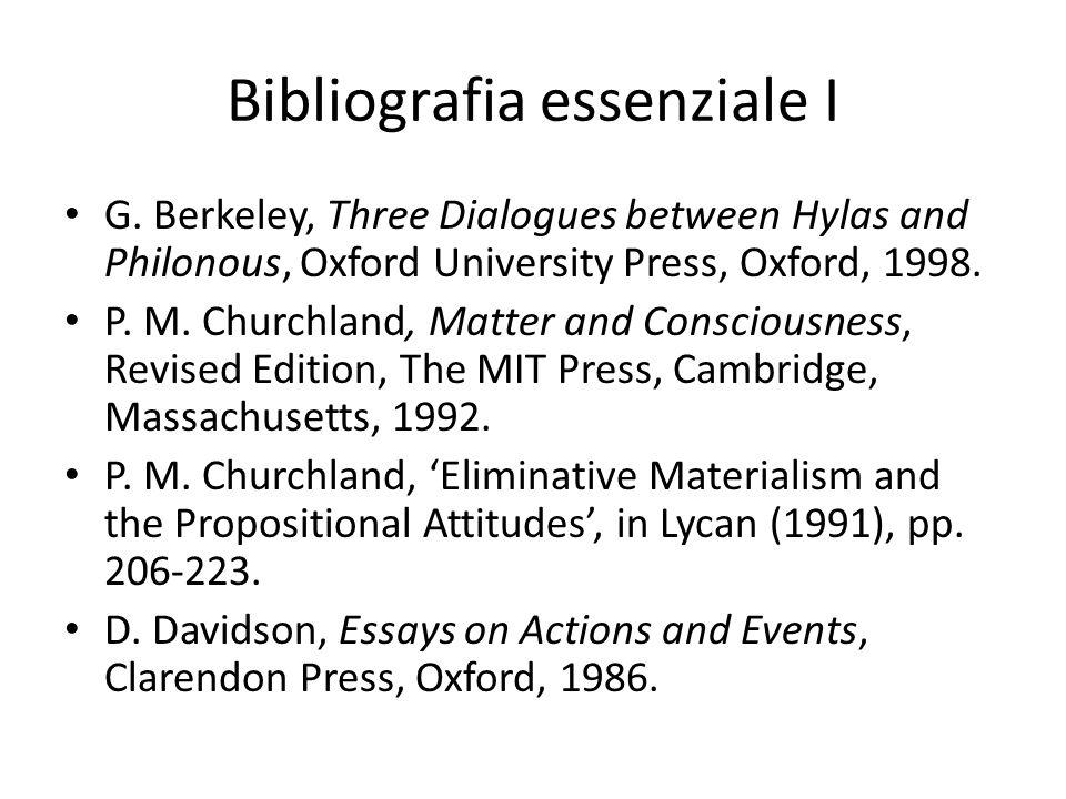 Bibliografia essenziale I