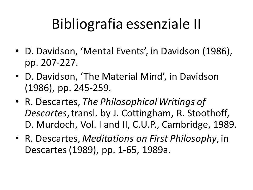 Bibliografia essenziale II