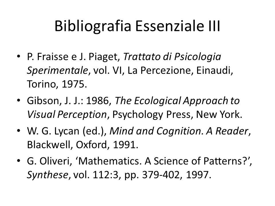 Bibliografia Essenziale III