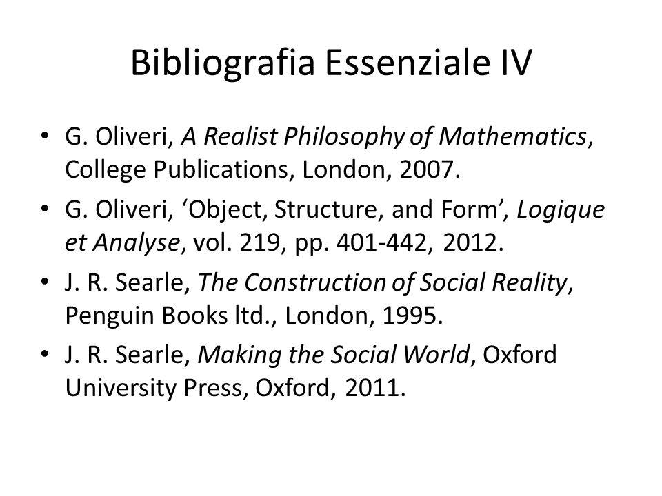 Bibliografia Essenziale IV