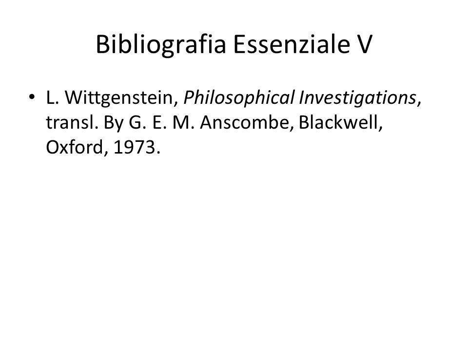 Bibliografia Essenziale V