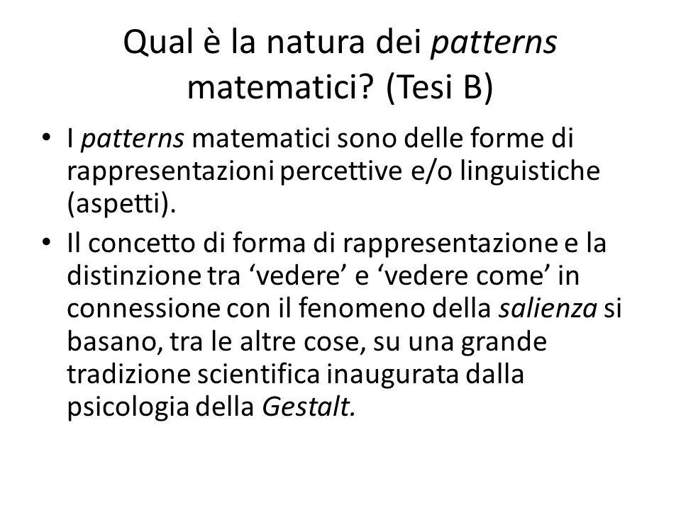 Qual è la natura dei patterns matematici (Tesi B)