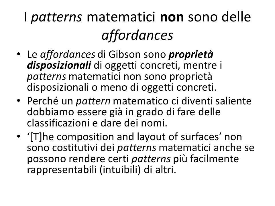 I patterns matematici non sono delle affordances