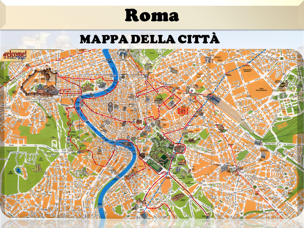 Roma Mappa della città