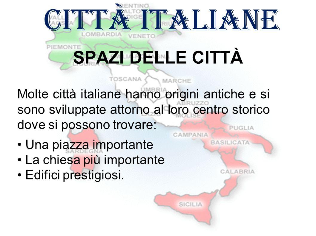 città italiane SPAZI DELLE CITTÀ