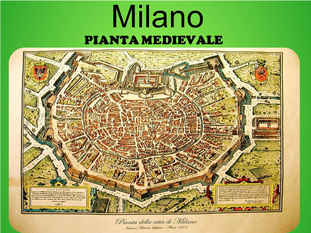 Milano Pianta medievale