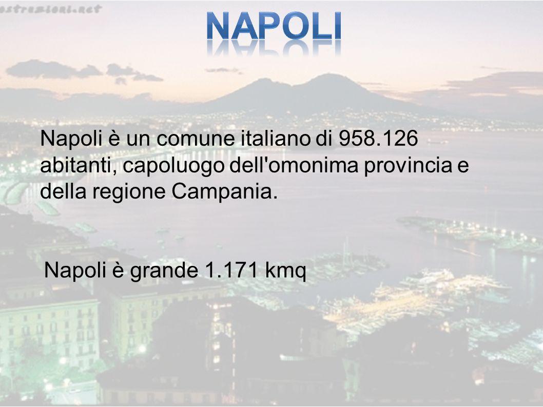 NAPOLI Napoli è un comune italiano di 958.126 abitanti, capoluogo dell omonima provincia e della regione Campania.