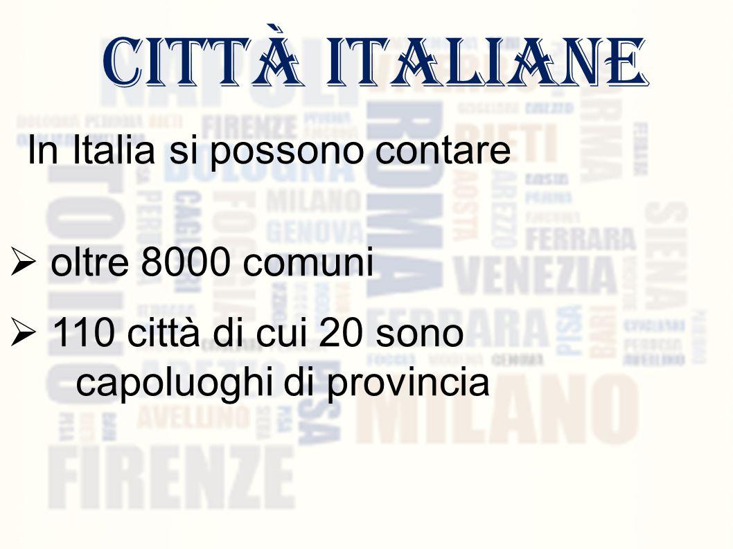 In Italia si possono contare
