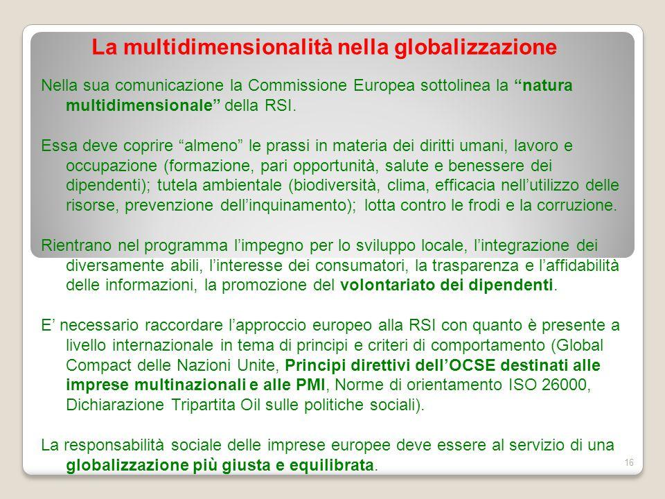 La multidimensionalità nella globalizzazione