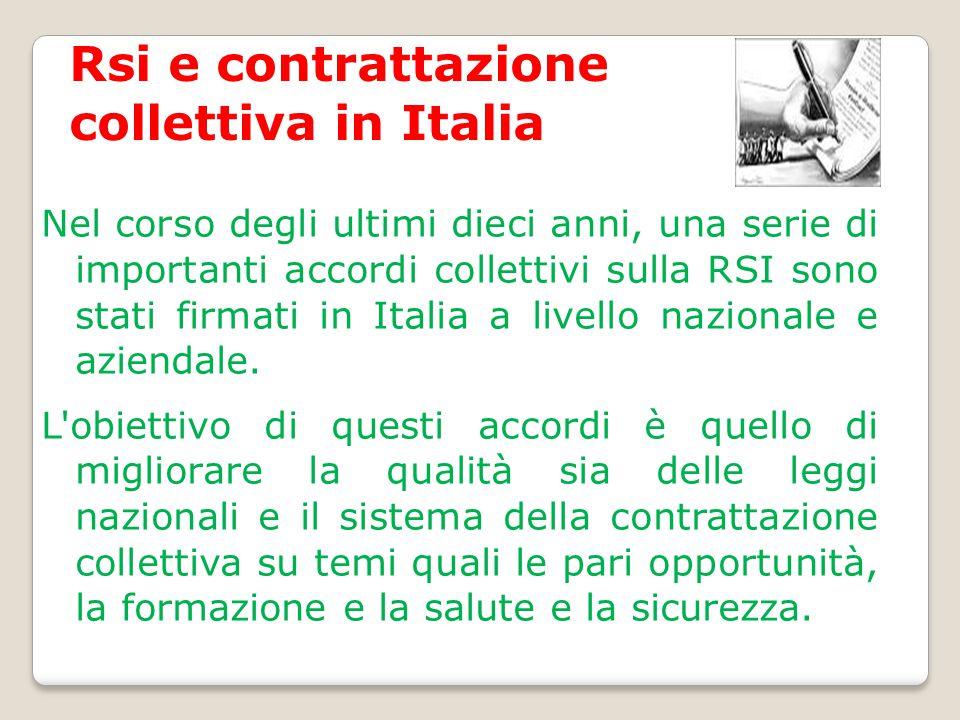 Rsi e contrattazione collettiva in Italia