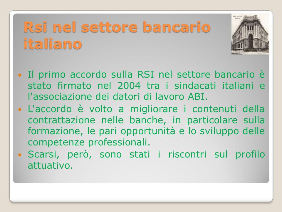 Rsi nel settore bancario italiano