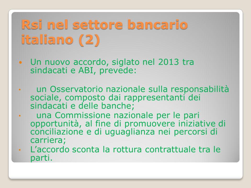 Rsi nel settore bancario italiano (2)