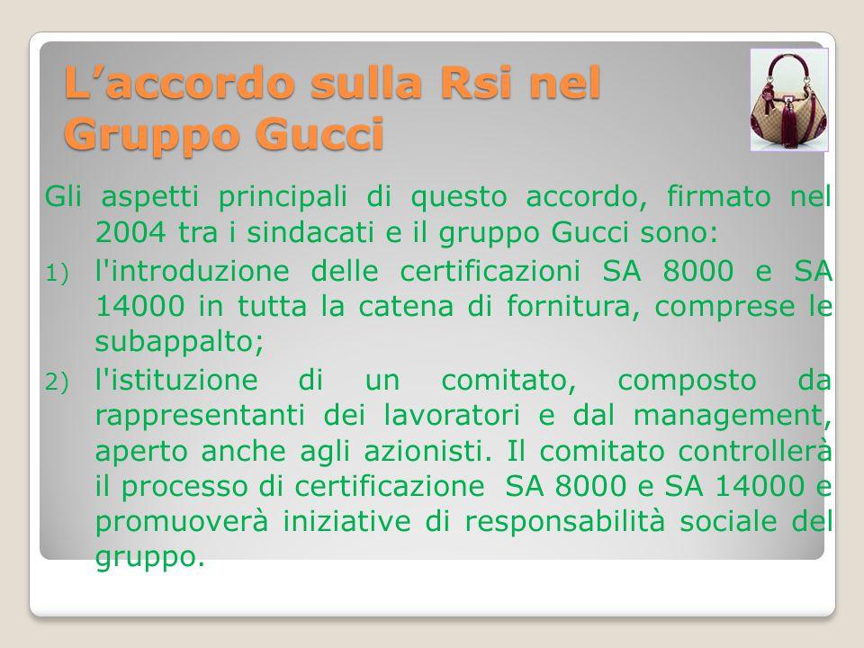 L'accordo sulla Rsi nel Gruppo Gucci