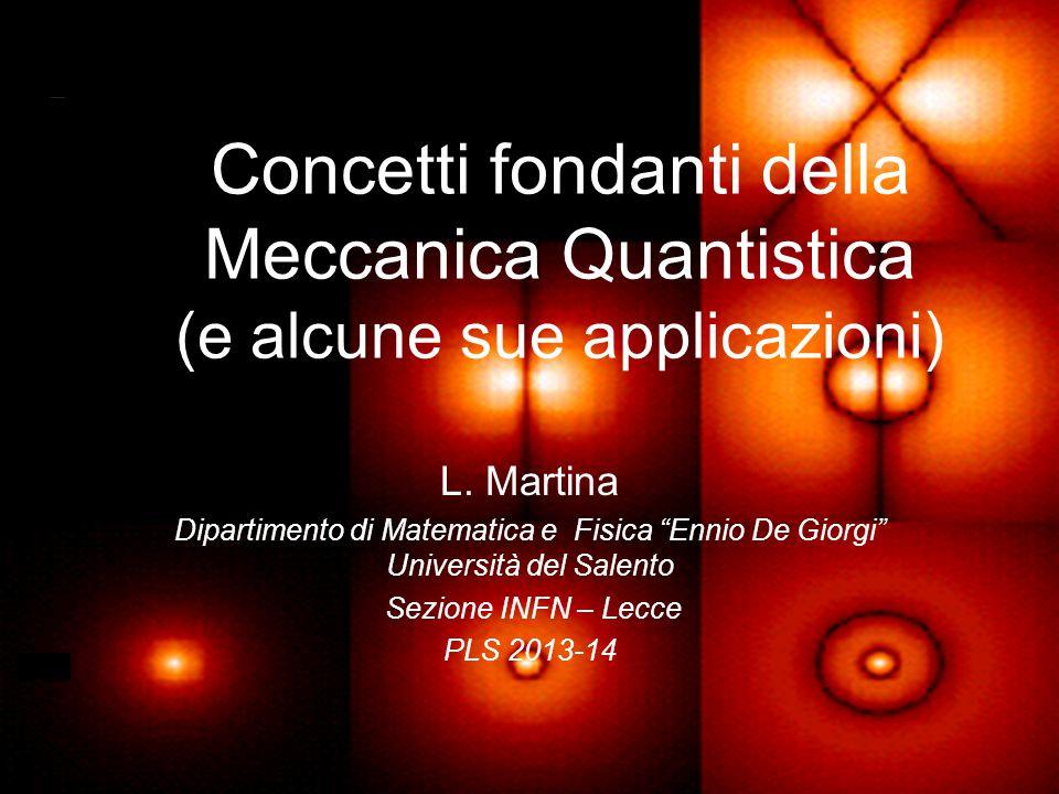 Concetti fondanti della Meccanica Quantistica (e alcune sue applicazioni)