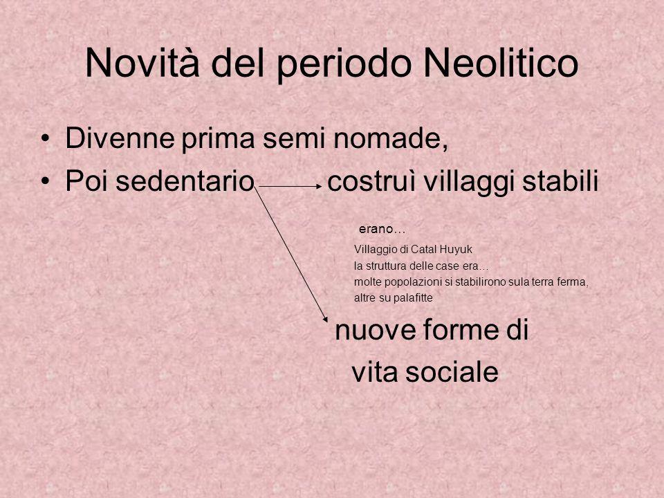 Novità del periodo Neolitico