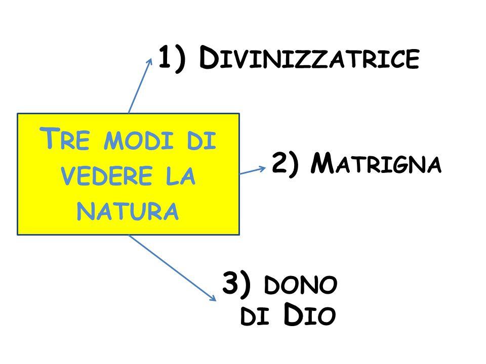 Tre modi di vedere la natura