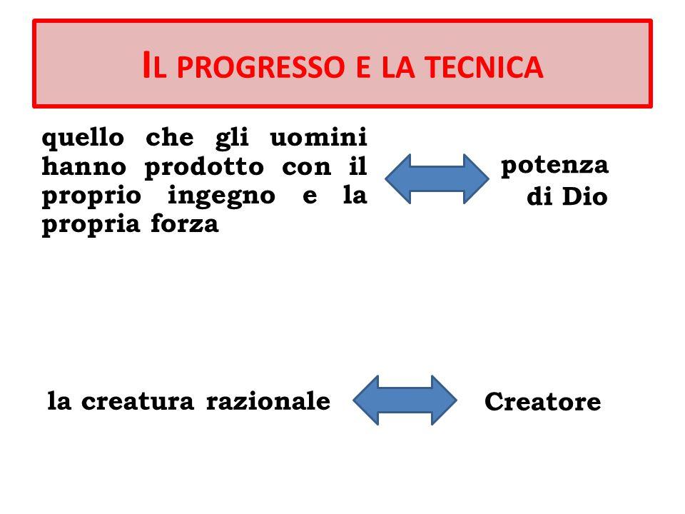 Il progresso e la tecnica