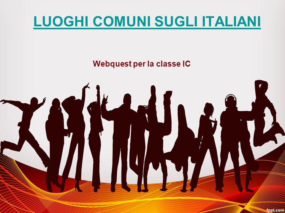 LUOGHI COMUNI SUGLI ITALIANI