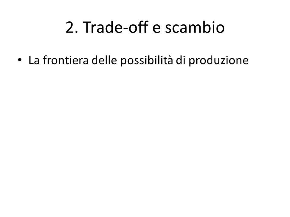 2. Trade-off e scambio La frontiera delle possibilità di produzione