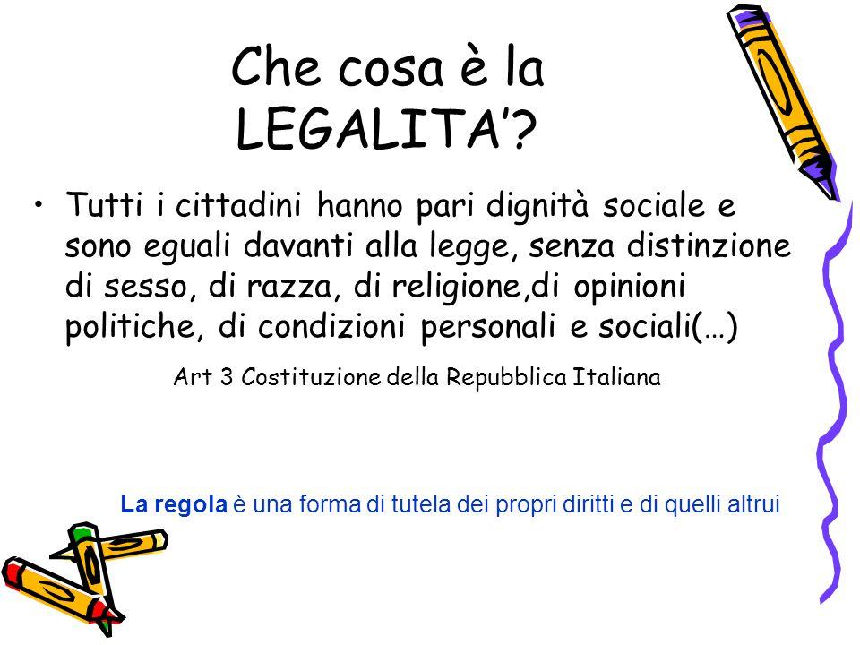 Che cosa è la LEGALITA'