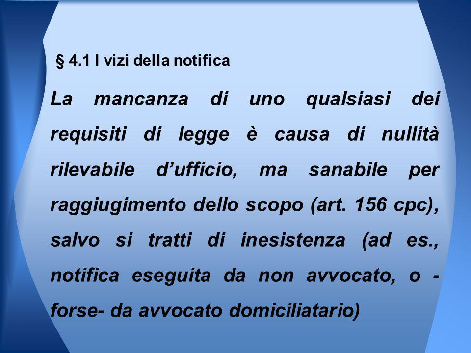 § 4.1 I vizi della notifica
