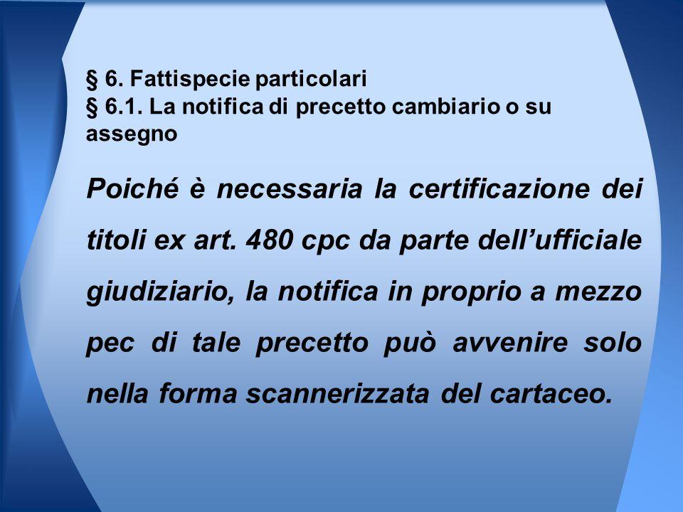 § 6. Fattispecie particolari § 6. 1