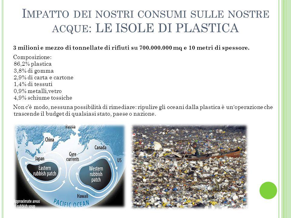 Impatto dei nostri consumi sulle nostre acque: LE ISOLE DI PLASTICA