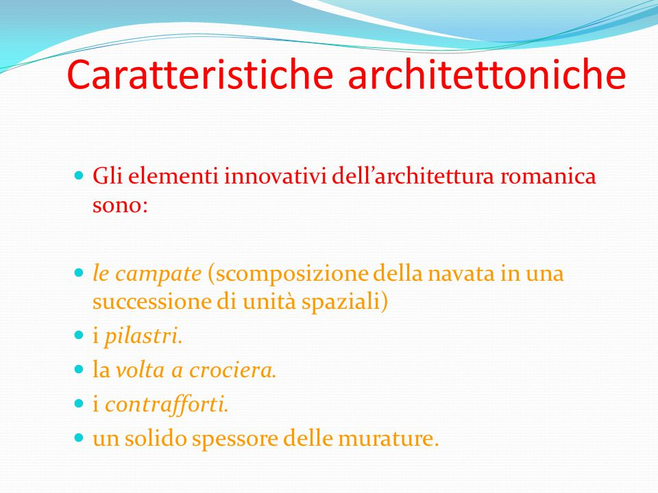 Caratteristiche architettoniche