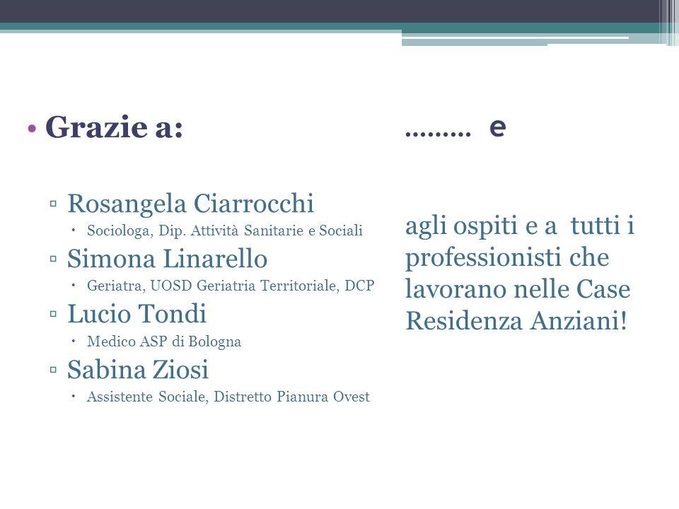 ……… e Grazie a: Rosangela Ciarrocchi Simona Linarello