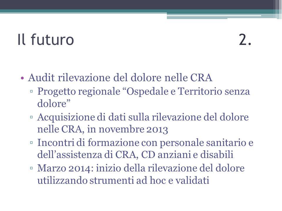 Il futuro 2. Audit rilevazione del dolore nelle CRA