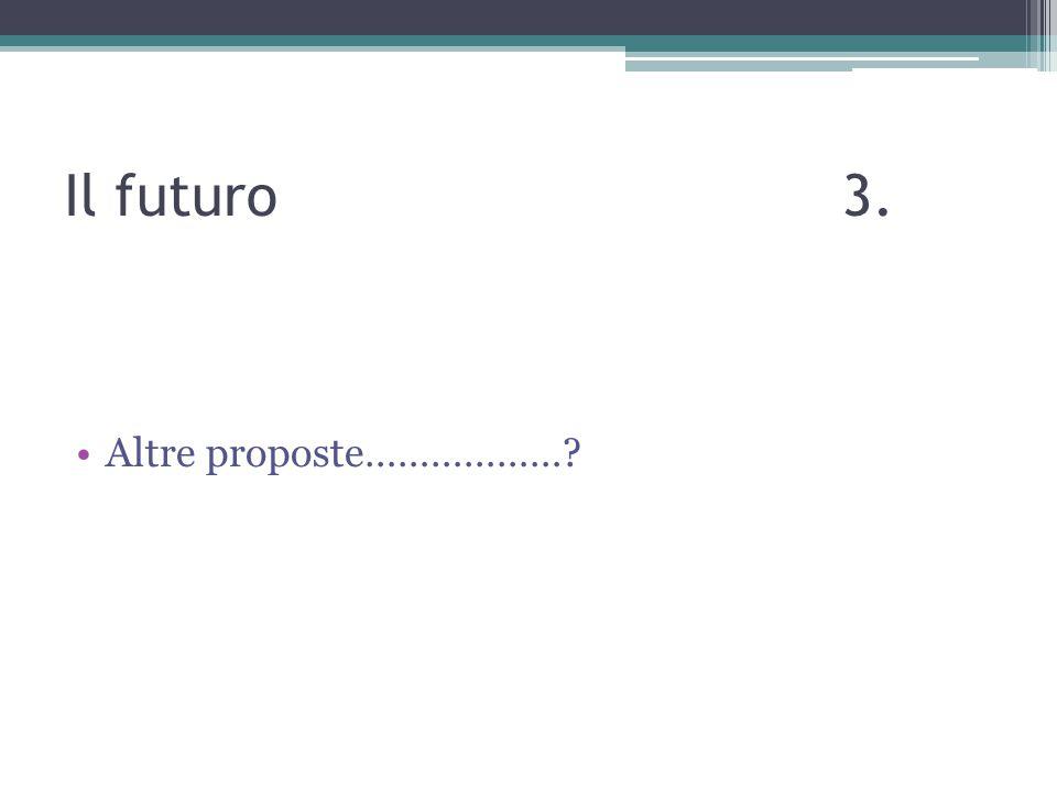 Il futuro 3. Altre proposte………………