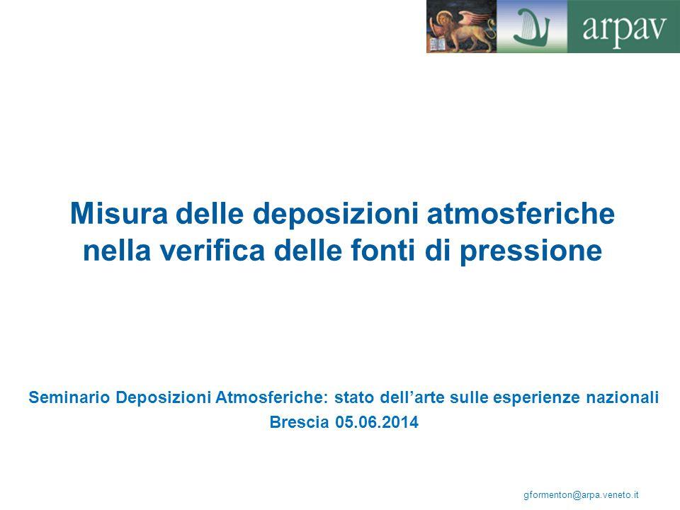Misura delle deposizioni atmosferiche nella verifica delle fonti di pressione