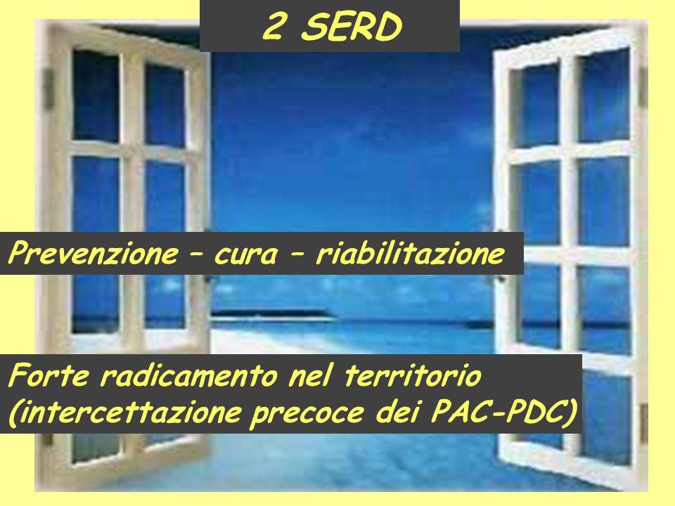 2 SERD Prevenzione – cura – riabilitazione