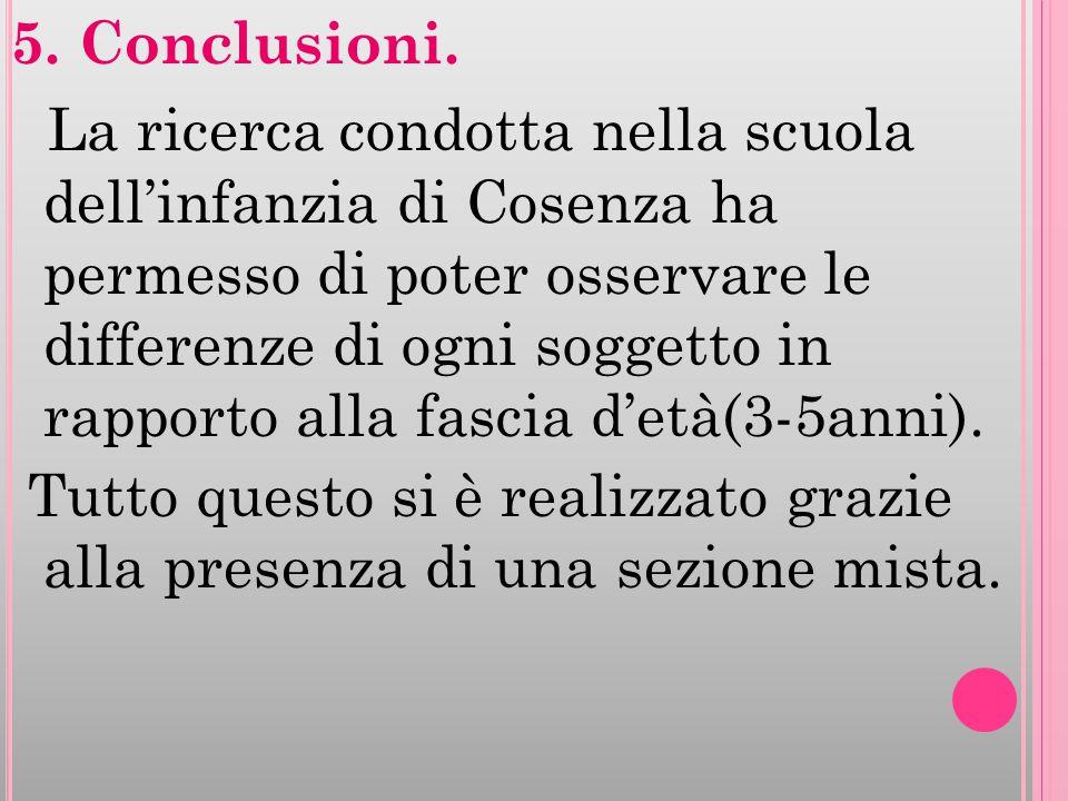 5. Conclusioni.