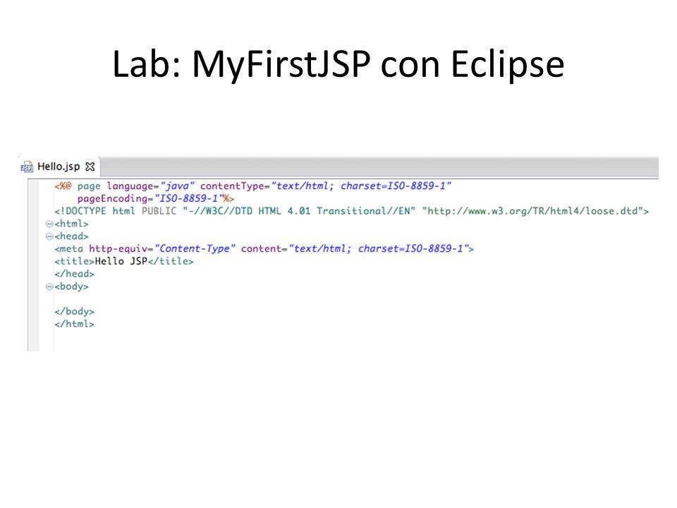 Lab: MyFirstJSP con Eclipse