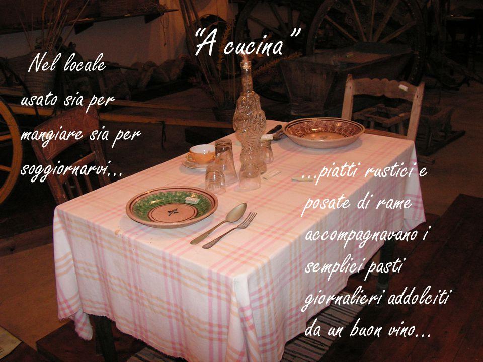A cucina Nel locale usato sia per mangiare sia per soggiornarvi…