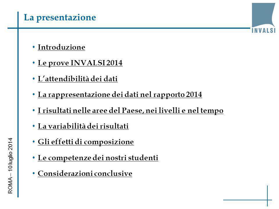 La presentazione Introduzione Le prove INVALSI 2014