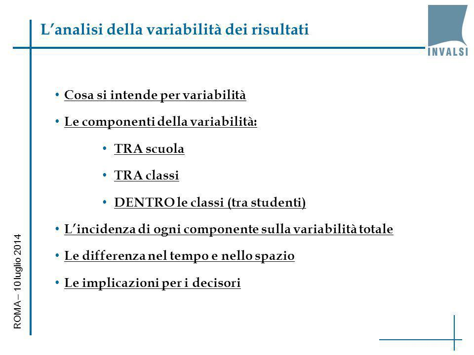 L'analisi della variabilità dei risultati