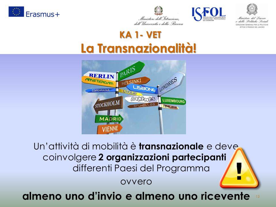 KA 1- VET La Transnazionalità!