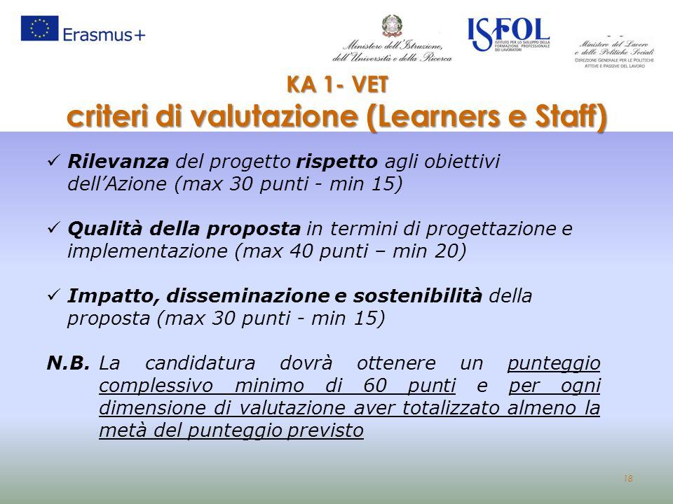 criteri di valutazione (Learners e Staff)