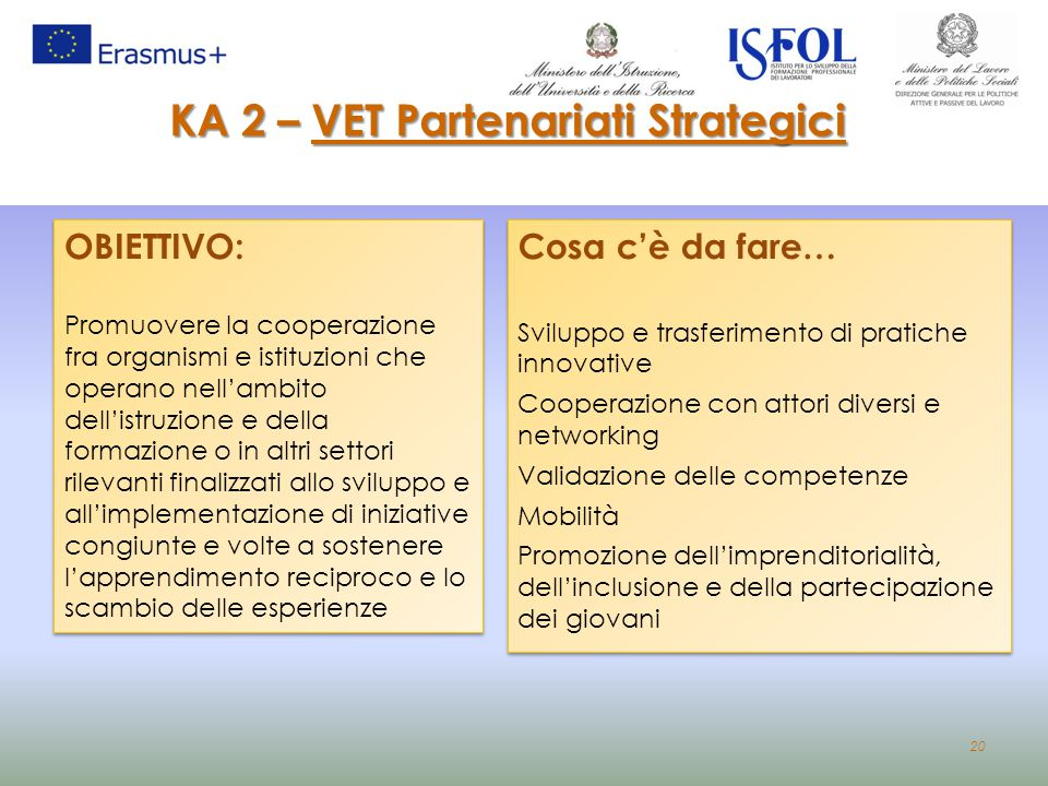 KA 2 – VET Partenariati Strategici