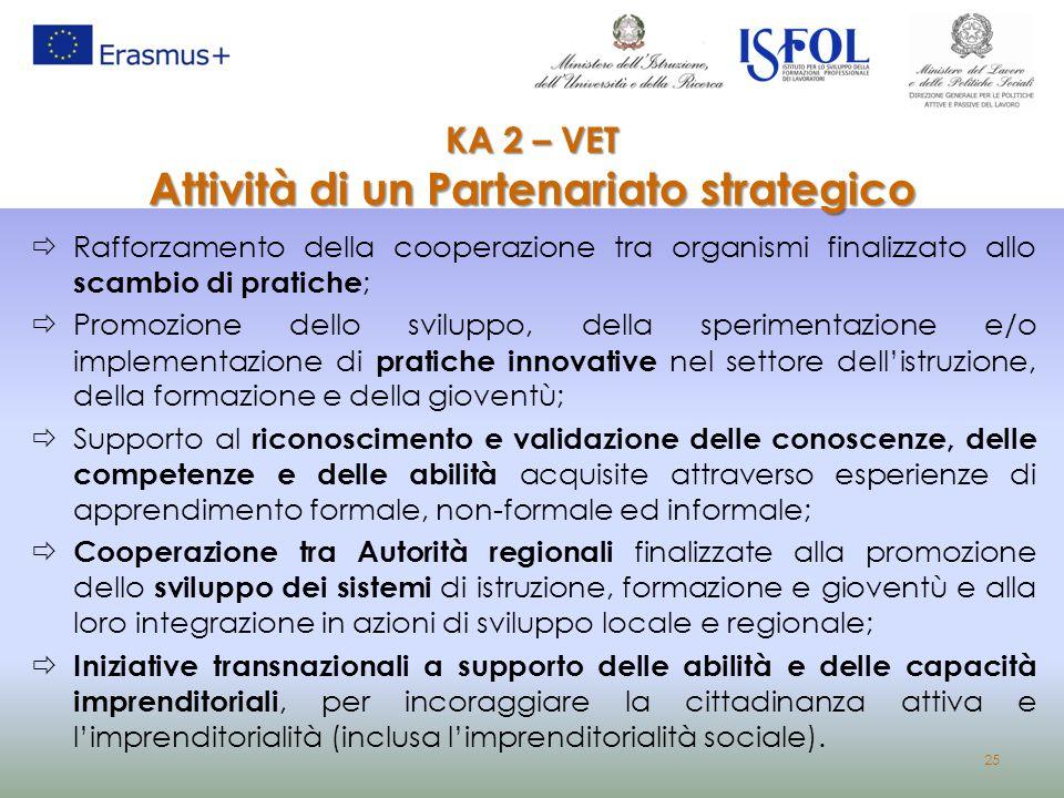 KA 2 – VET Attività di un Partenariato strategico