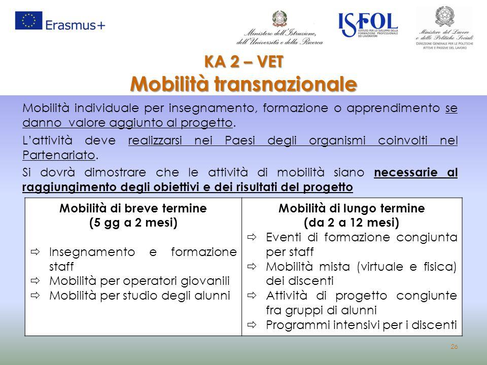 KA 2 – VET Mobilità transnazionale
