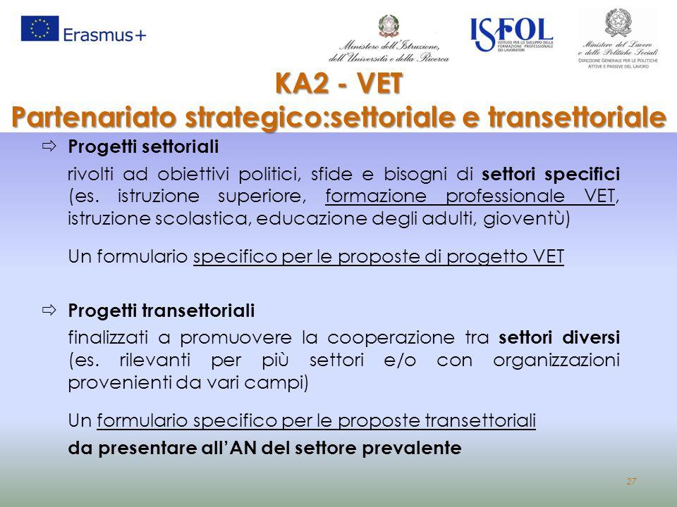 Partenariato strategico:settoriale e transettoriale