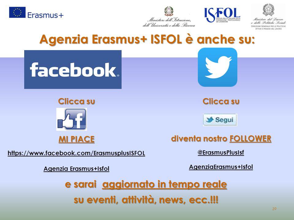 Agenzia Erasmus+ ISFOL è anche su: