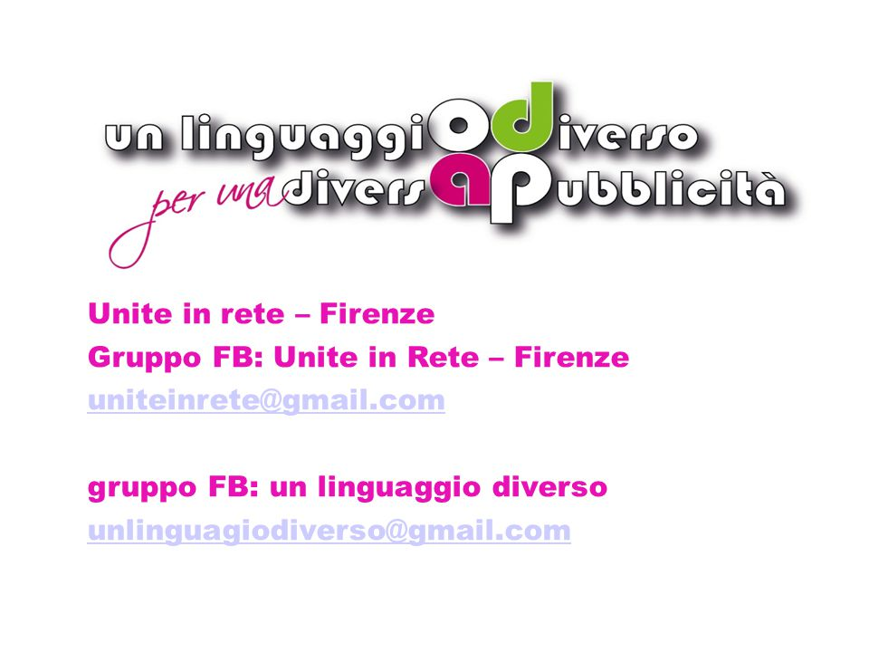 Dettagli bando 2014 Unite in rete – Firenze
